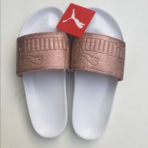 NWT Puma Women Slides Sandals Copper Size 9.5